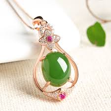 green jade pendant necklace