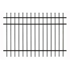 Gilpin Black Metal Fence Panels At Lowes Com