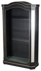 vintage glamour black gold mirror shelf