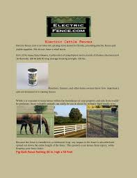Electric Cattle Fences