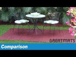 rubber patio paver tile vs sterling