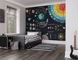 Scientific Universe Photo Wallpaper Mural Kids Bedroom Outer Etsy Kid Room Decor Childrens Bedrooms Kids Room Design
