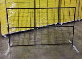 6 X12 Powder Coated Canada Construction Fence Panels Powder Coated Temporary Fence Hot Sale