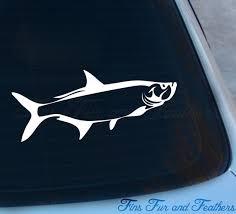 Tarpon Decal Silver King Sticker Saltwater Poon Etsy