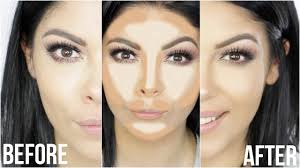 easy natural contour and highlight