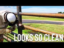 Building Pipe Fence No Coping Or Saddling Pipe Youtube