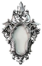 decorative silver wall mirror frame in