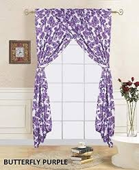 Amazon Com Sapphire Home Kids Window Curtain Panels W Tie Backs For Girls 2 Panels Butterfly Purpl In 2020 Kids Window Curtains Purple Kids Bedrooms Kid Room Decor