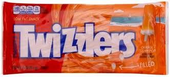 twizzlers orange cream pop twist candy