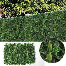 Justoyou Ivy Leaf Hedge Artificial Privacy Fence Screen Expanding Boxwood Panel For Wall Garden Outdoor Indoor Decor 40x60cm Ivy Hedge A Amazon Co Uk Garden Outdoors