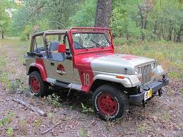 Jurassic Park Jeep Decal Kit Not Buying This One But Just For Reference I Will Get Them Custom Made At A Vinyl Jurassic Park Car Jurassic Park Jeep Jeep Yj