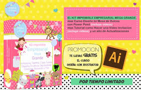 Kit Imprimible Empresarial Invitaciones Tarjetas Recuerdos