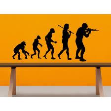 Shop Evolution Evolutionary Chain Soldier Wall Art Sticker Decal Overstock 11682524