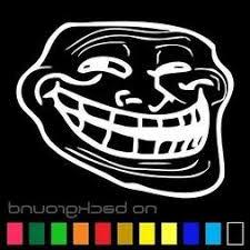 Troll Face Meme Sticker Vinyl Decal Car