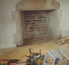 stone fireplace having some repointing