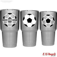 Excited To Share The Latest Addition To My Etsy Shop Decal For Yeti Decal For Tumbler Soccer Monogram Yeti Monogram Soccer Gifts Soccer Cup Diy Tumblers