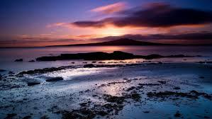 ocean sunset beach nature landscape
