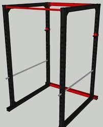 homemade steel power rack all things gym
