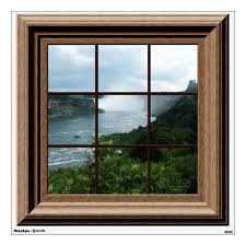 Fake Window Decal Niagara Falls View Mural Zazzle Com