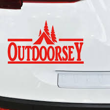 Outdoorsey Camping Hiker Outdoor Sportsman Decal Sticker Fishing Hiking Cool Graphics Vinyl Decor Decals Car Stickers Aliexpress