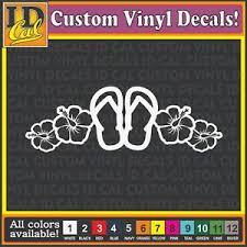 Flip Flops Hibiscus Flower Hawaiian Sticker Window Car Laptop Decals Graphics 7 Ebay