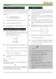 class 12 maths revision notes for three