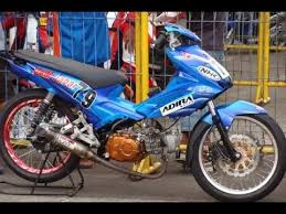 video modifikasi motor honda blade road