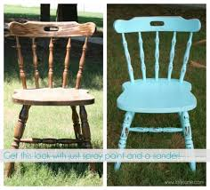 distress furniture with spray paint