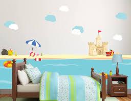 Amazon Com New Sea World Beach With Sand Castle Kids Room Decor Vinyl Theme Wall Decal Art Boy Girl Unisex Decoration Mural Wall Decal Sticker For Home Interior Decoration Car Laptop