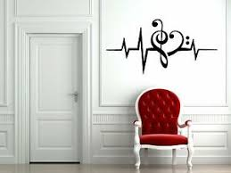 Vinyl Wall Decal Sticker Room Music Dj Notes Love Sound Waves Edm Cool F1956 751778745333 Ebay