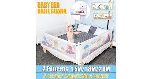 Adjustable Baby Bed Fence Safety Playpen Kids Vertical Lift Crib Rails Infants Safety Gate Crib Barrier Children Guardrail Matt Blatt