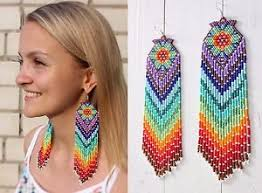 native american beaded earrings style