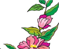 flower page border design clipart