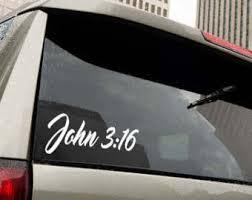 John 3 16 Decal Etsy