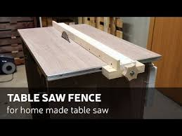How To Make A Table Saw Fence For Homemade Table Saw Youtube
