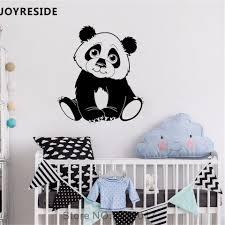 Joyreside Little Panda Wall Decal Cute Pandas Wall Sticker Animal Vinyl Decal Home Kids Baby Bedroom Decor Interior Design A757 Wall Stickers Aliexpress