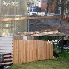 Chain Link Fencing It Does The Job Yet Not Very Appealing To Look At After Moving Into A New House With Chain Link All Ar Backyard Fences Diy Fence Backyard