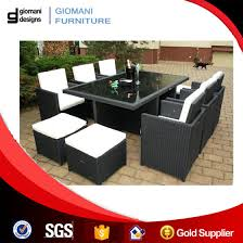 10 seater outdoor rattan table and