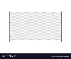 Chain Link Fence Panel Metal Wire Fence Royalty Free Vector
