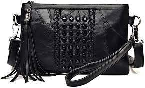 purses tassel wristlet clutch cross