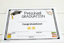 graduation certificates and class awards for preschool