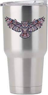 Amazon Com Native American Style Owl 3 Inch Full Color Decal For Stainless Steel Tumbler Proudly Made In The Usa From Adhesive Vinyl Tumbler Not Included Kitchen Dining