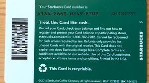starbucks gift card balance check