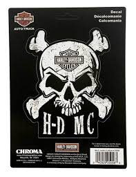 Harley Davidson Skull Crossbones Stick Onz Decal Set 6 X 8 Inches Cg25056 Wisconsin Harley Davidson