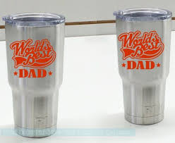 Quote Monogram Vinyl Decal Dad Sticker For Tumblers Cups Worlds Greatest Dad