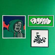 Mf Doom Vinyl Hip Hop Sticker Set Ebay