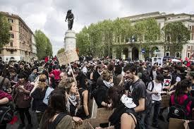 Manifestazione a Roma, le foto del corteo - Photogallery - Rai News