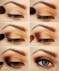 pretty golden eye makeup tutorial for