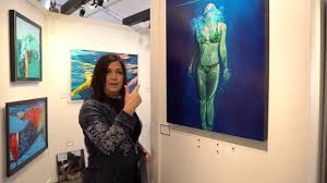 Underwater oil paintings with Priscilla Nelson - YouTube