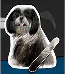 Amazon Com Wagging Wipers Shih Tzu Dog Car Rear Wiper Sticker Decal Automotive